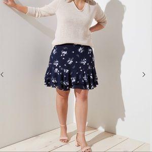 PLUS SIZE PERFECTION Loft Floral Skirt